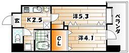 フェリス戸畑駅東[9階]の間取り