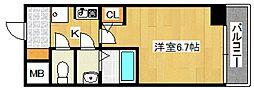 パーラム徳庵[802号室号室]の間取り