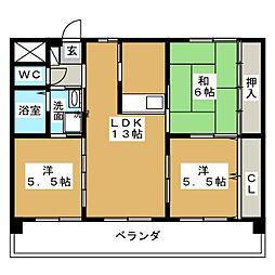 アイコート[2階]の間取り