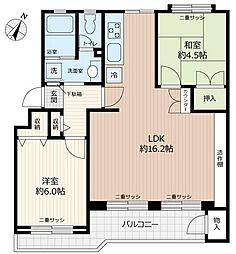 浦和白幡西住宅1号棟[5階]の間取り