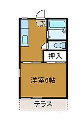タウニィ東林間[1階]の間取り