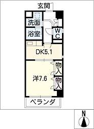 タウン清住[3階]の間取り