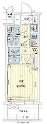 Osaka Metro中央線 九条駅 徒歩1分の賃貸マンション 9階1Kの間取り