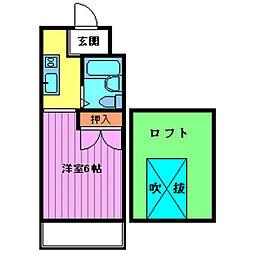 Mアクエリアス[2階]の間取り