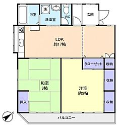 アースライト臼井[2階]の間取り