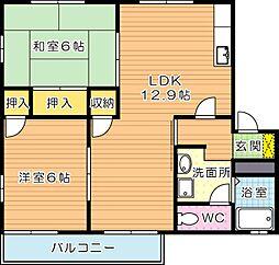 フレグランスM C棟[2階]の間取り
