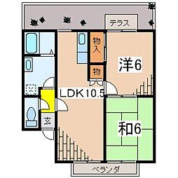 スバル飯泉[101号室号室]の間取り