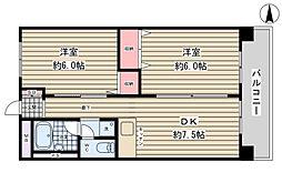 777ハイツ[5階]の間取り