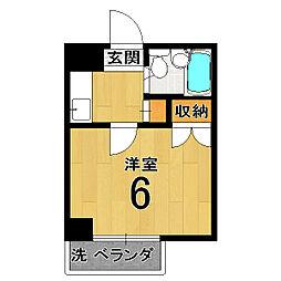 マンションTATSUMIYA[305号室]の間取り