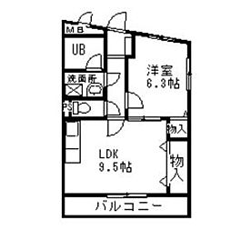 京屋ハイツI[2階]の間取り