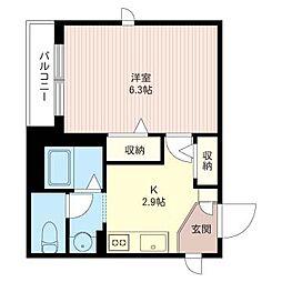 O.flats[2階]の間取り