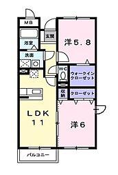 エル・ファーレB[1階]の間取り