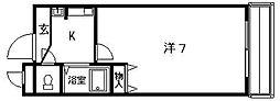 サンフェスタ[211号室]の間取り