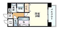 BAUHAUS広島駅NO.14 7階1Kの間取り