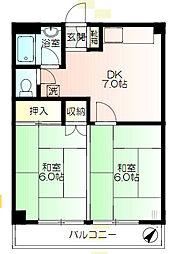 神奈川県横浜市保土ケ谷区今井町の賃貸マンションの間取り