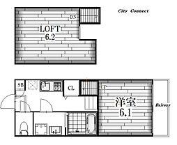 K Flat[1階]の間取り