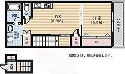 RIDERE光南 3階1LDKの間取り