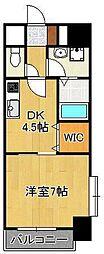 サンルーヴル 10階1DKの間取り