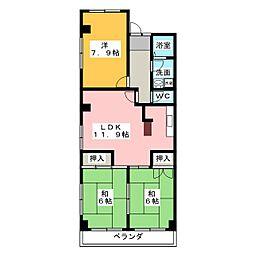 グリュンハイム神沢 S棟[2階]の間取り
