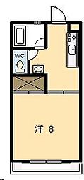 ピュアコート清武[307号室]の間取り