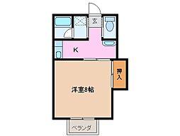 コーポ三喜 B[1階]の間取り