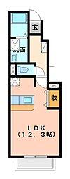 アンジェの郷B棟[1階]の間取り