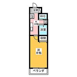 A-city港本宮[5階]の間取り