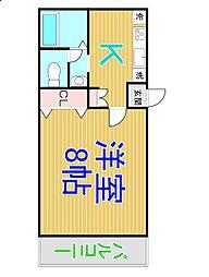 ビーライン西富井[1階]の間取り