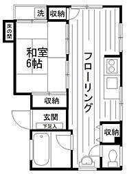 神奈川県横浜市神奈川区鳥越の賃貸マンションの間取り
