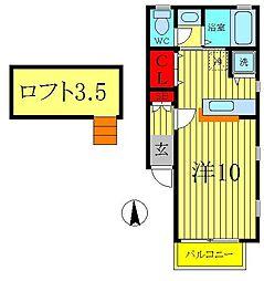 フガール'02[2階]の間取り