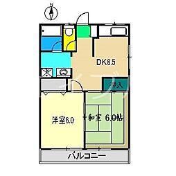 土佐っ子拾壱番館[3階]の間取り