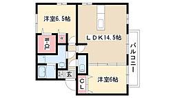 愛知県尾張旭市桜ケ丘町3丁目の賃貸アパートの間取り