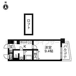 ジュネス四条烏丸[7階]の間取り