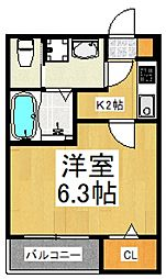 Riboshini(リボシーニ)[2階]の間取り