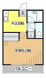 東京都東村山市本町3丁目の賃貸マンションの間取り