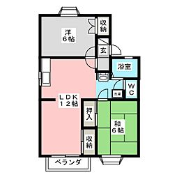グラティア A棟[2階]の間取り
