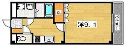 京都府八幡市八幡女郎花の賃貸マンションの間取り
