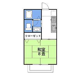 茨城県神栖市知手中央3丁目の賃貸アパートの間取り