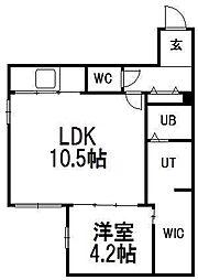 北海道札幌市中央区南九条西7丁目の賃貸マンションの間取り
