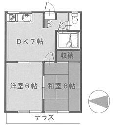 ウエストヒルA棟[2階]の間取り