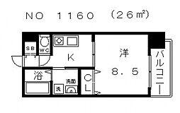 NCA美章園[3階]の間取り