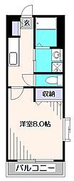 ラルジェルール西東京[2階]の間取り