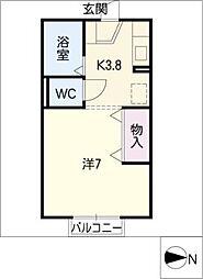 パークサイド松浦[1階]の間取り