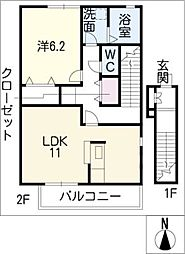 コサティ[2階]の間取り
