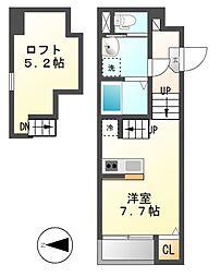 クリークコートII[1階]の間取り