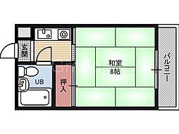 ハイムM&K今津[2階]の間取り