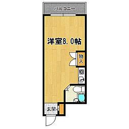 クリア塚本[407号室]の間取り