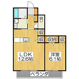 京都府京都市伏見区向島吹田河原町の賃貸アパートの間取り