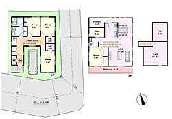 参考プラン延床面積141.19平米 建物価格2720万円