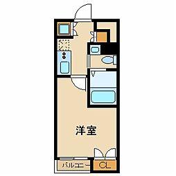 スカイコート東京ベイ・東雲 2階1Kの間取り